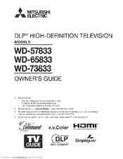 mitsubishi wd 65833 manuals rh manualslib com Old Mitsubishi TV mitsubishi tv 1080p owners manual