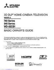 mitsubishi wd 82740 manuals rh manualslib com Mitsubishi 60 Inch TV mitsubishi tv owners manuals