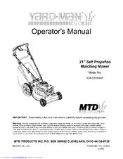 mtd yard man 12a 559k401 operator s manual pdf download rh manualslib com mtd yardman ride on mower manual mtd yardman manual online