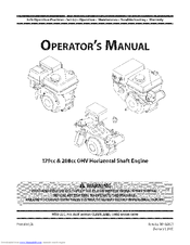 Mtd 208cc Manuals. Mtd 208cc Operator's Manual 44 Pages Ohv Horizontal Shaft Engine. Wiring. Mtd 208cc Ohv Engine Diagram At Scoala.co