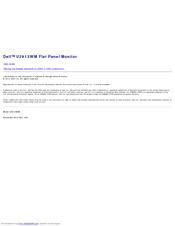 DELL U2913WM USER MANUAL Pdf Download