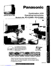 panasonic pv c2060 operating instructions manual pdf download