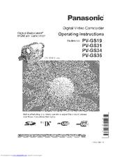 panasonic pv gs34 manuals rh manualslib com Panasonic Batteries panasonic pv gs39 manual
