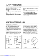 LG GR-051CN Servicing Precautions