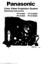 Panasonic PT-61G53X Operating Instructions Manual