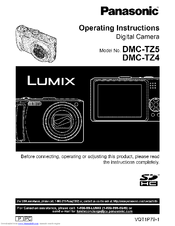 panasonic lumix dmc tz4 operating instructions manual pdf download rh manualslib com Panasonic Dmc- Tz60 panasonic dmc-tz4 manual