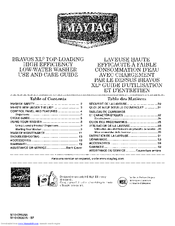 maytag bravos xl parts manual