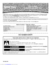 MAYTAG MIM1554XRS1 User Instructions
