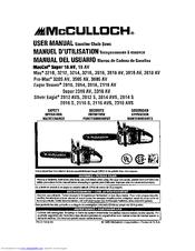 Mcculloch chainsaw repair manual.