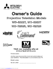 Mitsubishi Electric WD-62528 Owner's Manual