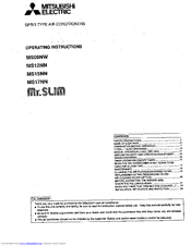 mitsubishi mr slim manual pdf