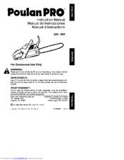 poulan pro 260 manuals Mac 3200 Chainsaw Manual Worx Chainsaw Manual