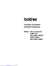 brother personal fax 190 manuals