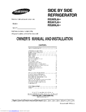 SAMSUNG RS267LASH/XAA and Owner's Manual And Installation