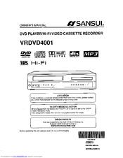 sansui vrdvd4001 manuals rh manualslib com Clock with DVD VCR Combo V Back a DVD VCR Combo