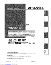 sansui vrdvd4005 manuals rh manualslib com Sansui Television Manual 076R0lj030 Sansui TV