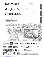 sharp aquos lc 80le632u manuals rh manualslib com Sharp AQUOS sharp lc-80le632u manual