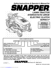 Snapper LT180H48FBV2 Operator's Manual