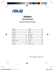 Asus Echelon Quick Start Manual