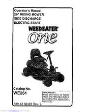 weed eater one we261 operator s manual pdf download rh manualslib com Craftsman Lawn Mower Model Poulan Lawn Mower Replacement Parts