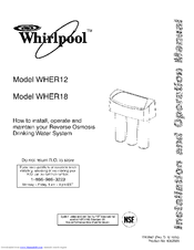 WHIRLPOOL WHER12 Installation And Operation Manual