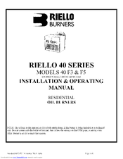 riello 40 f5 installation operating manual pdf download rh manualslib com Riello 40 F3 Parts Breakdown Riello 40 F3 Parts