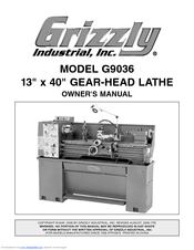 Grizzly G9036 Owner's Manual