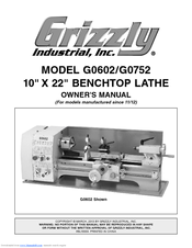 Grizzly G0602 Owner's Manual
