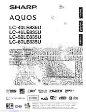 sharp aquos lc 60le835u manuals rh manualslib com KB Sharp 6525P5 Sharp ER-A170
