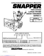 snapper 8245 manuals rh manualslib com Simplicity Snapper Snow Thrower Manual Simplicity Snapper Snow Thrower Manual