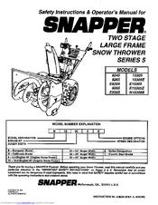 snapper 8265 manuals rh manualslib com Snapper Snow Thrower Repair Manual Snapper Snowblower