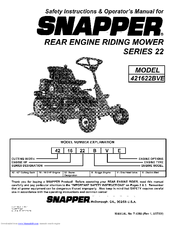snapper 421622bve manualswe have 2 snapper 421622bve manuals available for free pdf download safety instructions \u0026 operator\u0027s manual, parts manual