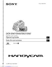 sony handycam dcr sr47 manuals rh manualslib com Sony Dcr SR-47 Manual Specs Sony Dcr SR-47
