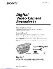 Sony DCR-TRV235E TWAIN Windows