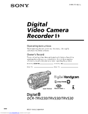 Drivers: Sony DCR-TRV235E TWAIN