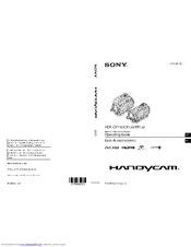 Sony HANDYCAM HDR-CX150 Operating Manual