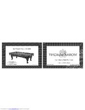 Thomas Aaron The Ultimate Slate Pool Table Manuals - Thomas aaron pool table