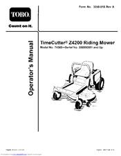 toro timecutter z4200 manuals rh manualslib com toro timecutter z4200 parts manual toro timecutter z4200 parts manual