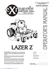 Exmark Laser Z Operator S Manual Pdf Download Manualslib