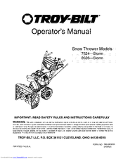 troy bilt storm 7524 manuals rh manualslib com troy bilt snowblower manual troy bilt snowblower manual