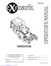 exmark navigator manuals rh manualslib com Exmark Navigator Forum exmark navigator deck manual