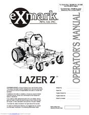 exmark lazer z manuals rh manualslib com exmark lazer z 60 parts manual parts manual exmark lazer z lz27kc604