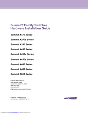 Extreme Networks Summit X450e-48p Hardware Installation Manual
