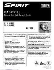 weber spirit sp 310 manuals rh manualslib com weber spirit 3 burner grill manual weber spirit propane grill manual