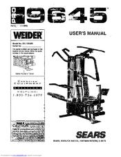 weider pro 9645 user manual pdf download rh manualslib com Weider 8530 Home Gym System Club Weider Home Gym