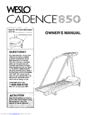 Weslo CADENCE 850 Owner's Manual