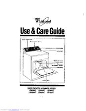 Whirlpool LE6880XTW1 Use & Care Manual