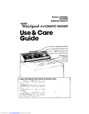 Whirlpool LA5705XKW0 Use & Care Manual