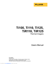 Fluke TiR125 User's Manual