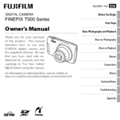 Fujifilm Finepix T500 series Owner's Manual